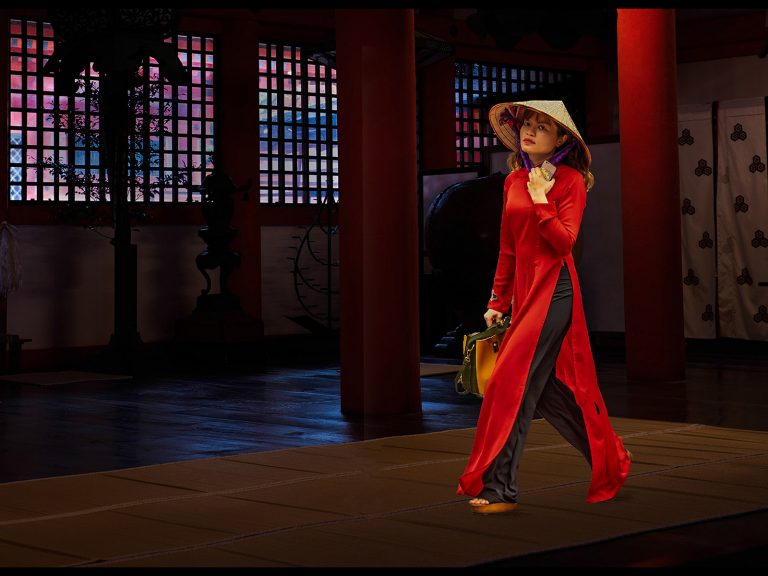 Print Commended_Vietnamese Lady Wandering By by Ken Brown