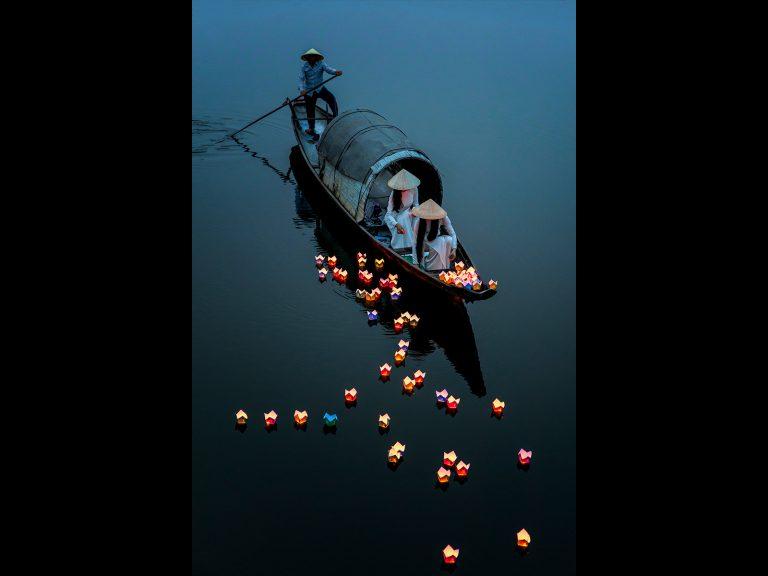 Print Second Place_Lanterns On River by Chris Ellison