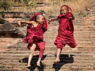 Leaping Monks